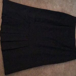 Black  kick pleat skirt